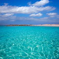 Formentera Illetes Illetas tropical beach near Ibiza Royalty Free Stock Photo