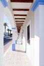 Formentera island La Savina narrow arcade Stock Photography