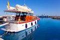 Formentera island port with boats in La Savina Royalty Free Stock Image