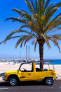 Formentera island with summer retro convertible Royalty Free Stock Photo