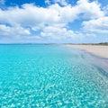 Formentera Llevant tanga turquoise beach Royalty Free Stock Photo