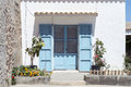 Formentera a typical house in san francisco the capital of the island of balearic islands spain Royalty Free Stock Photo
