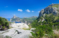 Formentor hills on majorca tropical landscape of rocky coast Stock Photo
