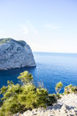 Formentor by the Mediterranean sea on the island of Ibiza in Spa Royalty Free Stock Photo