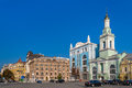 Former greek monastery on the kontraktova square kiev ukraine Stock Images