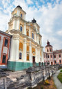 Former Jesuit College in Kremenets Royalty Free Stock Photo