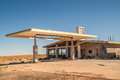 Former Service Station on Route 66 Stock Photography