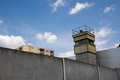Former Watchtower on the Berlin Wall in East Berlin Royalty Free Stock Photo