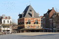 Former weigh house in leeuwarden holland the waag located at the waagplein the north of the province of friesland has been built a Royalty Free Stock Photo