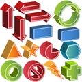 Formes 3d réglées Photographie stock libre de droits