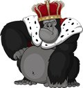 Formidable monkey in a crown this is file of eps format Royalty Free Stock Images