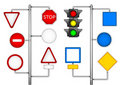 Forms for a road signs Royalty Free Stock Photo