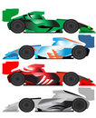 Formula car illustration Stock Photography