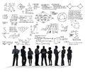 Formula mathematics equation mathematical symbol geometry inform information concept Stock Photo