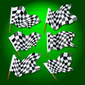 Formula one flags Stock Photography
