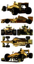 Formula one isolated several views of car on white background Stock Photo