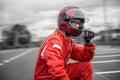 Formula one pilot Royalty Free Stock Photo