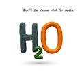 Formula of water h o vector illustration plasticine modeling Stock Photos