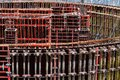 Formwork for concrete construction for circular or curved structures. Royalty Free Stock Photo
