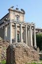 Foro romano - iglesia cristiana temprana Fotografía de archivo libre de regalías