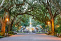 Forsyth Park in Savannah, Georgia Royalty Free Stock Photo