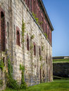 Fort adams in newport ri this old is a pert of historical the bay that the watch over is covered with enormous Royalty Free Stock Photos