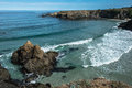 Fort bragg coast california the ocean along the of Royalty Free Stock Images