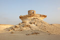 Fort in the desert of qatar middle east Stock Photos