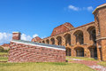 Fort jefferson courtyard inner wall houses and in at dry tortugas national park florida old sections of lie in Stock Photo