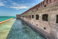 Fort jefferson at dry tortugas national park was built to protect one of the most strategic deepwater anchorages in Royalty Free Stock Images