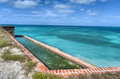 Fort jefferson at dry tortugas national park was built to protect one of the most strategic deepwater anchorages in Royalty Free Stock Image