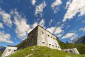 Fort kluze slovenia austrian fortress built in the valley of the river koritnica in europe Royalty Free Stock Photos
