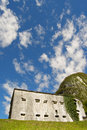 Fort kluze slovenia austrian fortress built in the valley of the river koritnica in europe Royalty Free Stock Image