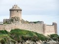 Fort la latte at cap frehel in brittany france Royalty Free Stock Image