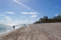 Fort lauderdale beach florida wide Royalty Free Stock Photo