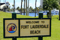Fort lauderdale beach welcome sign florida february to in merle fogg idlewyld park near las olas intracoastal Stock Images
