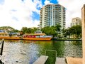 Fort Lauderdale - December 11, 2019: Cityscape view of the popular Las Olas Riverwalk downtown district Royalty Free Stock Photo