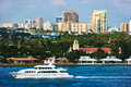 Fort lauderdale florida panoramic view of Stock Images