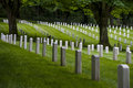 Fort Lawton Military Cemetery, Discovery Park, Seattle, Washington Royalty Free Stock Photo