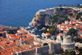 Fort Lovrijenac and Old City of Dubrovnik Royalty Free Stock Photo