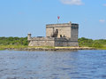 Fort matanzas st augustine florida an old spanish near usa Stock Photography