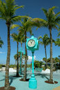 Fort myers beach times square clock the heart of Stock Photo