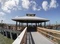 Fort- Myersstrand-Fischen-Pier, Florida Stockfotografie