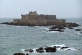 Fort national near saint malo a port city in northwestern france Royalty Free Stock Images
