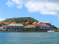 Fort oscar hotel de ville and wall house in gustavia st barts french west indies january on january at french west indies Royalty Free Stock Photography