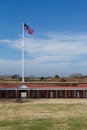 Fort pulaski flag at next to tybee island Stock Images