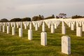 Fort rosecrans honor rows of geometrically placed headstones the service of america s veteran s in national cemetary Royalty Free Stock Photography