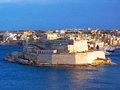 Fort saint ange malta a view from the shore of in Stock Photography