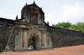 Fort santiago main gate of in manila philippines Royalty Free Stock Photography