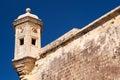 Fort st michael sentry turret malta on senglea citta invicta Royalty Free Stock Image